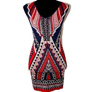 Forever 21 Knit Sweater Bodycon Dress Aztec